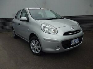 2014 Nissan Micra K13 MY13 ST Silver 5 Speed Manual Hatchback Cooee Burnie Area Preview