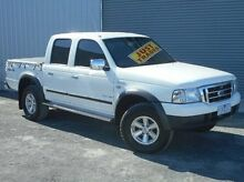 2005 Ford Courier PH XLT Crew Cab White 5 Speed Automatic Utility Mitchell Park Ballarat City Preview