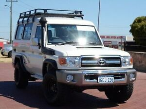 2012 Toyota Landcruiser VDJ78R MY10 GXL Troopcarrier White 5 Speed Manual Wagon Spearwood Cockburn Area Preview