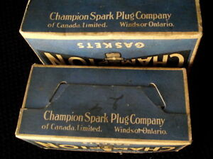 Two Champion spark plug gasket boxes $5.00 London Ontario image 5