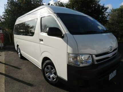 2011 Toyota Hiace KDH223R MY11 Commuter High Roof Super LWB White 4 Speed Automatic Bus Oakleigh Monash Area Preview