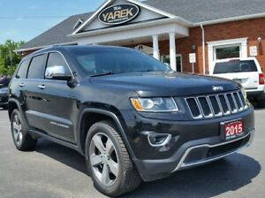 2015 Jeep Grand Cherokee Limited 4x4, Leather Heated Seats/Wheel