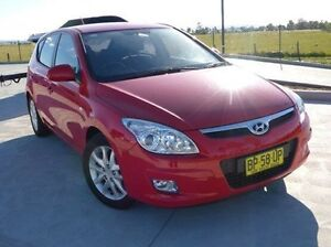2009 Hyundai i30 FD MY09 SLX Red 5 Speed Manual Hatchback Singleton Singleton Area Preview