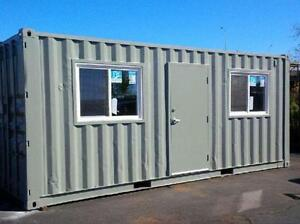 Sea containers in all sizes AND are converted and even painted!