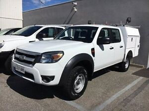 2011 Ford Ranger PK XL Crew Cab White 5 Speed Automatic Cab Chassis Seaford Frankston Area Preview