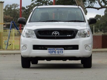 2011 Toyota Hilux GGN15R MY10 SR White 5 Speed Automatic Utility