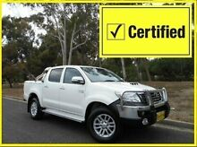 2013 Toyota Hilux KUN26R MY12 SR5 Double Cab White 4 Speed Automatic Utility St Marys Mitcham Area Preview