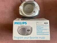 Reduced - Philips CD player - boxed with instructions