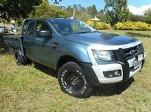 2012 Ford Ranger PX XL Super Cab Blue 6 Speed Manual Cab Chassis Derwent Park Glenorchy Area Preview