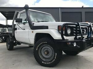 2003 Toyota Landcruiser HZJ79R White 5 Speed Manual Cab Chassis Invermay Launceston Area Preview