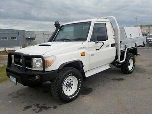 2013 Toyota Landcruiser White Manual Cab Chassis Pakenham Cardinia Area Preview