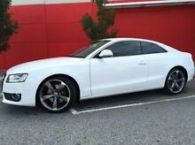 2009 Audi A5 8T MY09 Quattro White 6 Speed Sports Automatic Coupe Beckenham Gosnells Area Preview