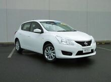 2013 Nissan Pulsar C12 ST White 1 Speed Constant Variable Hatchback Bungalow Cairns City Preview