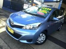 2014 Toyota Yaris NCP130R YR Blue 4 Speed Automatic Hatchback Taminda Tamworth City Preview