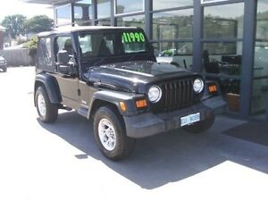 2003 Jeep Wrangler TJ MY2003 Sport Black 5 Speed Manual Softtop Invermay Launceston Area Preview