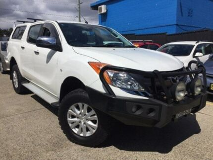 2012 Mazda BT-50 B32P XTR White 6 Speed Automatic Utility Kings Park Blacktown Area Preview