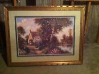 Beautiful painting with custom gold frame