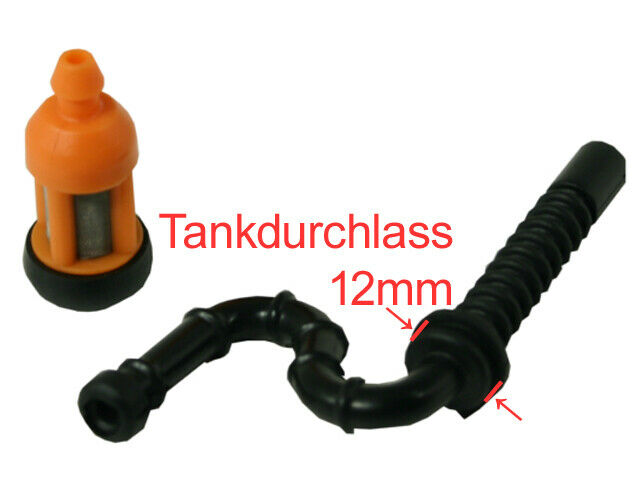 Kraftstoffschlauch Benzin filter Kraftstofffilter passend für Stihl 026AV MS260