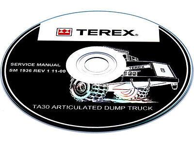 Terex Ta30 Articulated Dump Truck Parts Manual Book Catalog List