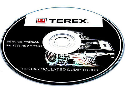 Terex Tr100 Mining Truck Service Maintenance Shop Workshop Manual