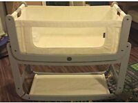 Snuzpod bedside cot and mattress hardly used rrp £230