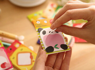 Sticky Notes Korean Style Stationery Cute Happy Zoo Cartoon Creative Notes Pad