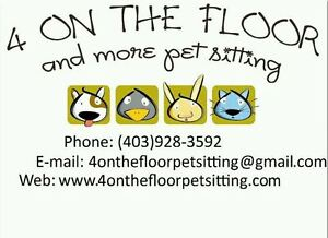 4 On The Floor Pet Sitting- Licenced, Insured & Bonded!