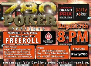 Play a Free Poker Tournament Sunday - Win a trip to Montreal!