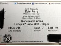 Katy Perry tickets Manchester arena 'the tour' 22nd of June