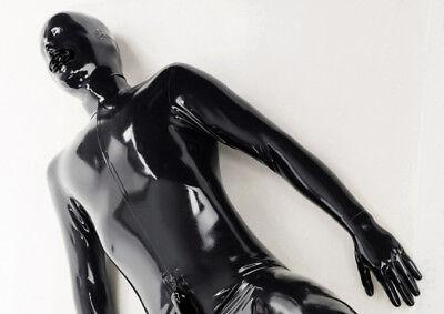 Latex exclusiver Komplettanzug - tolles Catsuit für mit Maske, Penishülle und...