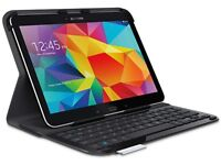 Logitech Ultrathin Keyboard Folio for Samsung Galaxy Tab 4, hardly used and as good as new
