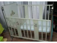 Vintage cot bed with a modern matress