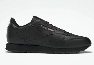 NEW Reebok Classic Leather Black Size 6.5 UK