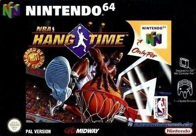 N64 / Nintendo 64 juego - NBA Hang Time en el embalaje usado