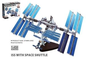 NASA 26382 International Space Station Soyuz & Shuttle 1/450 Scale Model Mint