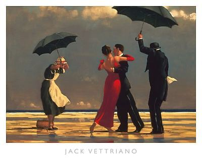 The Singing Butler by Jack Vettriano Beach, Dance Print 19.75x15.75, used for sale  Fair Oaks