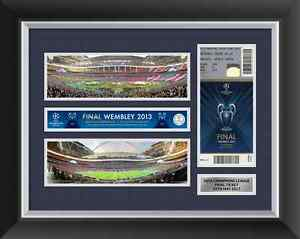 Champions League Final 2013 Ticket Display Frame Bayern Munich v Dortmund