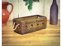 Brand New Harry Potter Style Harry's Potions Small Vintage Wooden Storage Box