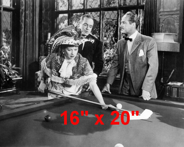 """Lucille Ball~Shooting Pool~Playing Pool~Billiards~Poster~16"""" x 20"""" Photo"""