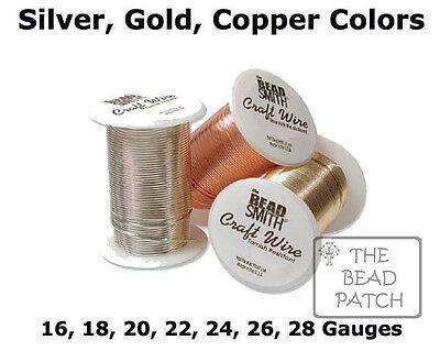 Tarnish Resistant Craft Wire - 3 Colors - 7 Gauges - BeadSmith Jewelry - Crafts