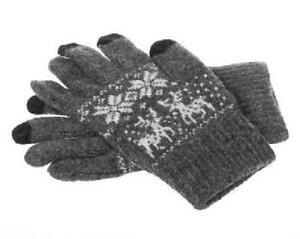 Winter Touch Gloves for Capacitive Touchscreen Devices - Light Grey, Red or Dark Grey
