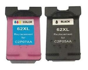 HP 62XL Black and HP 62XL Tri-Color Remanufactured Ink Cartridge Combo Pack