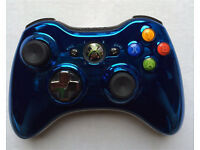 Genuine Xbox 360 blue crhome pad