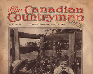THE CANADIAN COUNTRYMAN MAGAZINES 1938 VINTAGE ADS