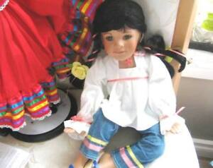 "15"" ISABEL OR ANNA LATINA DANBURY ORIGINAL DOLL, OUTFIT, COA"