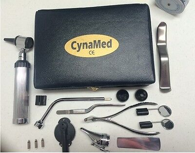 New Otoscope Ophthalmoscope Set Ent Medical Instruments  Cynamed  3 Bulb Free
