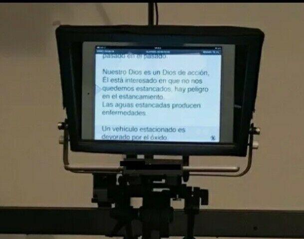 "12"" screen, Adjustable Teleprompter 10"" Tablet-iPad-Smartphone Teleprompter Pad"