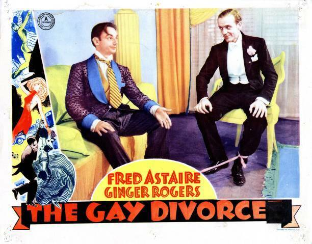 OLD MOVIE PHOTO The Gay Divorcee Lobby Card Erik Rhodes Fred Astaire 1934