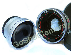 37MM Telephoto & Wide Angle Lens + Macro for Olympus PEN E-PL1 E-PL2 E-PL3 E-PM2