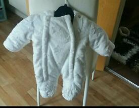 2 tiny baby snow suits wore once